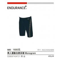 【線上體育】男人運動及膝泳褲 SPEEDO Monogram 黑-金36