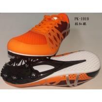 【線上體育】孔雀牌 PK-1919 桔紅銀 田徑釘鞋 路跑釘鞋 1雙