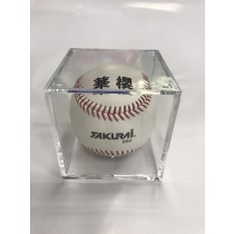 【線上體育】棒球 放置壓克力四方盒-單盒子不含球