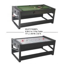 【線上體育]】撞球台 冰棍球台 兩用球檯 兩用球台 ES-FT7702MTL 四方腳 6.5尺-L05709