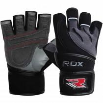 【線上體育】RDX GYM 舉重手套 皮革 灰/黑  L4